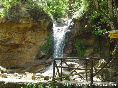 Cascadas en los Chorros de Milla. Merida, Venezuela